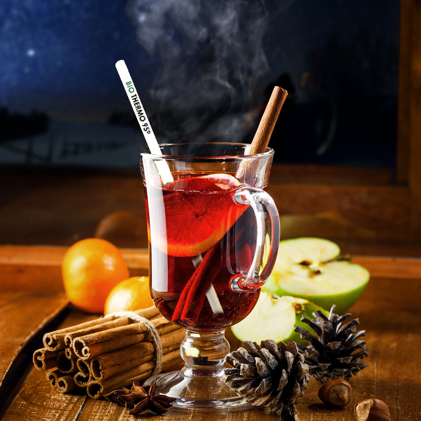 Traditional Winter Holiday Alcoholic Drink. Mulled Wine
